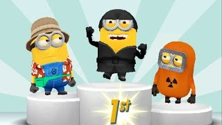 getlinkyoutube.com-Despicable Me 2 Minion Rush Ninja Minion vs Tourist Minion, Baby Minion, Hazmat Minion