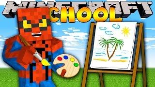 getlinkyoutube.com-Minecraft School : PAINTING ZOO ANIMALS!