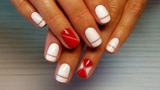 getlinkyoutube.com-Дизайн ногтей гель-лак shellac - Роспись ногтей (видео уроки дизайна ногтей)