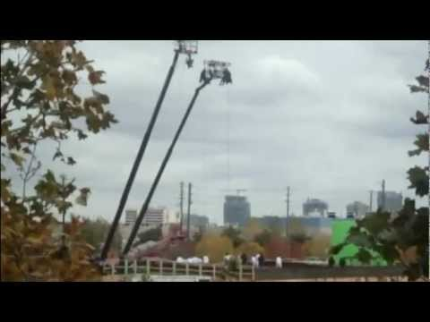 Battle on boat Arcadia at Resident Evil 5 Retribution Toronto Set