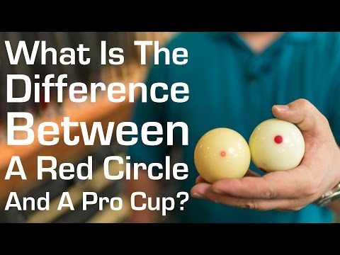 What Is The Difference Between a Red Circle and A Pro Cup Cue Ball?