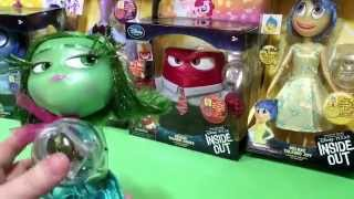 getlinkyoutube.com-Disney Store Exclusive Pixar Inside Out Movie Deluxe Talking Figures Joy Anger Disgust Fear Sadness!