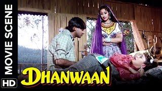 Ajay plays a prank on Karisma   Dhanwaan   Movie Scene