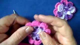 getlinkyoutube.com-Flor caracol em croche - PARA CANHOTA