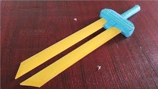 getlinkyoutube.com-Cómo hacer una espada de papel | Cuchillas dobles
