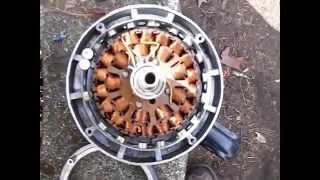 getlinkyoutube.com-New ceiling fan wind generator build duel rectifer