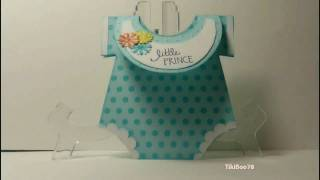 getlinkyoutube.com-Onesie Baby Shower Card!!!