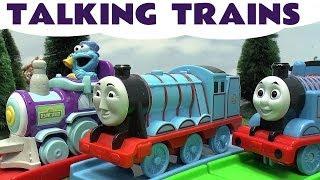 getlinkyoutube.com-Gordon Talking To Thomas And Friend Sesame Street ABC Elmo Cookie Monster Train Thomas Tank Kids Toy