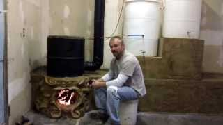 getlinkyoutube.com-Bulldog Rocket Stove Fireplace Thermal Siphon Water Heater part 6