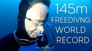William Winram 145m Freediving World Record (VWT) width=