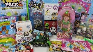 Trash Pack Minecraft Shopkins Skylanders MLP Barbie Moshi Huge Blind Bag Opening Unboxing