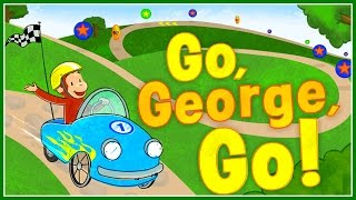♡ Curious George - Go George Go Funny Racing & Design Video Game For Kids English
