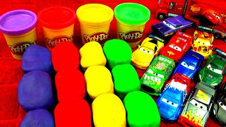 getlinkyoutube.com-Play-Doh Surprise Eggs Cars 2 Peppa Pig Super Mario Disney Princess Toy Story Angry Birds FluffyJet