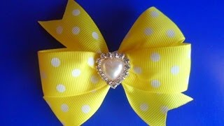 getlinkyoutube.com-Как сделать Бант из репсовых лент / How to make a bow of ribbons rep