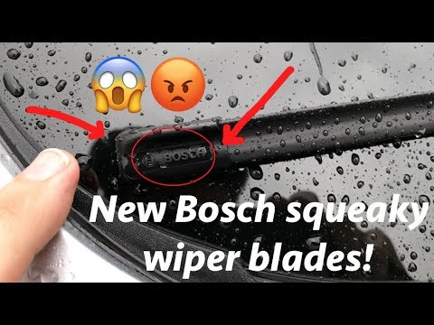 Bosch's new squeaky wiper blades!? please SHARE & COMMENT to get this video viral!!!