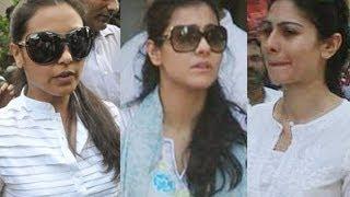 getlinkyoutube.com-Rani Mukherjee, Kajol, Tanisha attend Joy Mukherjee's FUNERAL