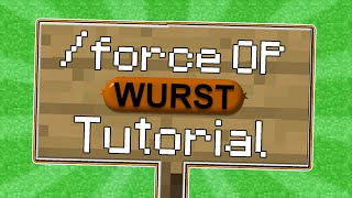 getlinkyoutube.com-Minecraft - How-to Force OP on 1.8.x with the Wurst Hacked Client - WiZARD HAX