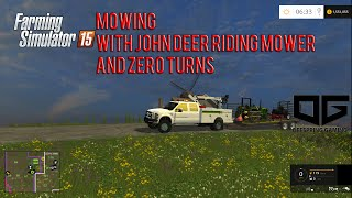 getlinkyoutube.com-Farming Simulator 2015- Mowing In Pleasant Valley With John Deere