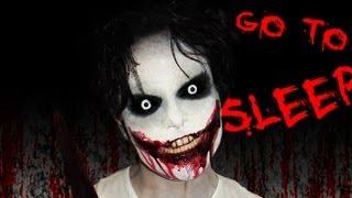 getlinkyoutube.com-Jeff the Killer - Creepy Pasta - Makeup Tutorial! - GO TO SLEEP