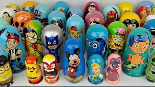 getlinkyoutube.com-LOTS OF NESTING DOLLS! PJ Masks, Paw Patrol, Bubble Guppies, Finding Dory, Mickey, Frozen / TUYC