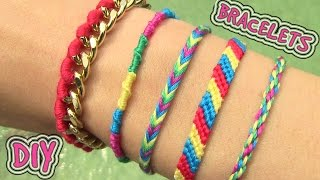 getlinkyoutube.com-DIY Friendship Bracelets. 5 Easy DIY Bracelet Projects!