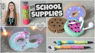 getlinkyoutube.com-DIY School Supplies for Back-To-School // Lipstick USB, Yarn Pen & More!