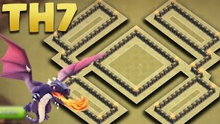 getlinkyoutube.com-Clash of Clans - Town Hall 7 War Base (TH7 war AnTi Dragon) 2016 + REPLAYS