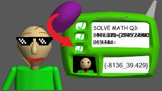 HOW TO ANSWER THE 3RD QUESTION CORRECTLY(Baldi's Basics){Read Description}