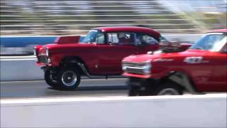 Drag Weekend West 2016 Gasser Grudge Match Race 55 Chevy vs Chevy II