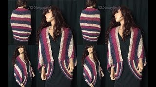 getlinkyoutube.com-How to Knit a Oversized Shrug Pattern #6│by ThePatterfamily