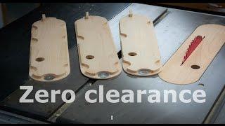 getlinkyoutube.com-zero clearance insert plate - Ridgid table saw