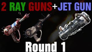 getlinkyoutube.com-Dual Ray Guns in TranZit on Round 1 Tutorial - Black Ops 2 Zombies - Jet Gun Pack-A-Punch Perks