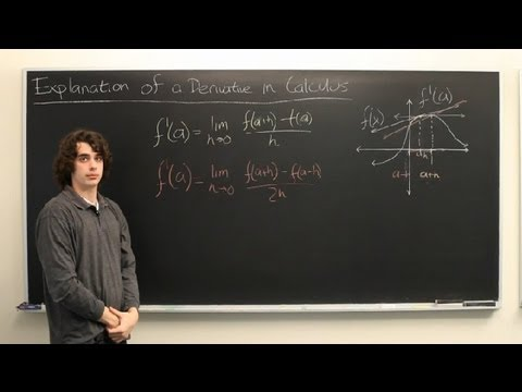 Explanation of a Derivative in Calculus : Calculus Explained