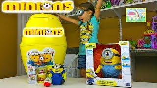 getlinkyoutube.com-NEW MINIONS BIGGEST SURPRISE EGG PARTY EVER Minions PlayDoh Surprise Egg Kinder Surprise Eggs Game