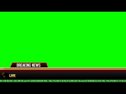 Breaking News Banner - Green Screen Animation