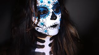 getlinkyoutube.com-Sugar Skull Makeup ( Catrina)