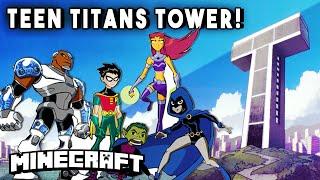 getlinkyoutube.com-Minecraft Skyscrapers - TEEN TITANS TOWER! (Epic Skyscraper Base)    Minecraft Maps