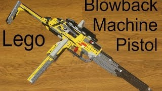 getlinkyoutube.com-Lego Blowback Hi-Capacity Gun | Full Auto MP | Deagle's Mech