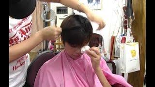 getlinkyoutube.com-カットモデルさんが泣きました ☆ 刈り上げ 43 ☆ ベリーショート Haircut