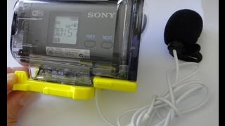 getlinkyoutube.com-Sony Action Cam External Microphone Housing Mod