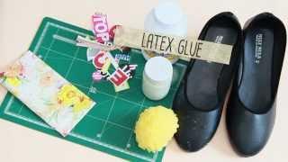 """getlinkyoutube.com-ทำเองกับมือ: DIY """"Old Shoes MAKEOVER!"""" รองเท้าคู่เก่าเหมือนใหม่ด้วยเปเปอร์มาร์เช่"""