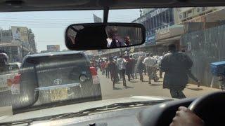 getlinkyoutube.com-Fidel Odinga Funeral Convoy From Kisumu to Bondo(Edited)