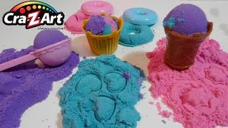 getlinkyoutube.com-صلصال الرمل السحري - أيس كريم الصلصال و كيك Cra-Z-sand Ice cream