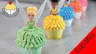 getlinkyoutube.com-¡CUPCAKES DE HADAS CAMPANITA! Cómo hacer Cupcakes de Campanita y sus Hadas Amigas