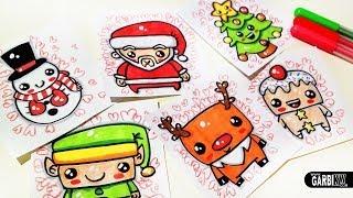 getlinkyoutube.com-How To Draw Cute Christmas Easy and Kawaii Drawings by Garbi KW