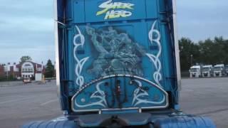 getlinkyoutube.com-2x SCANIA V8 - Henrik Hansen Transport - Open Pipe Sound [HD]
