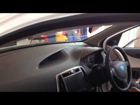 Hyundai i20 latest 2012 march white car real HD video