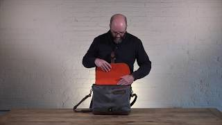 Crafted Laptop Canvas & Leather Messenger Bag | Pad & Quill Leather Messenger Bag Review