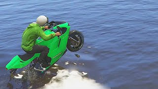 getlinkyoutube.com-IMPOSSIBLE BIKE RACE! (GTA 5 Funny Moments)