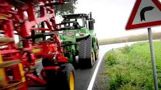 The new John Deere 9RX series tractor on the road